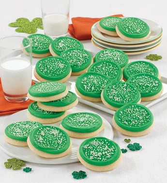 Buttercream Frosted St Patricks Day Cookie Box