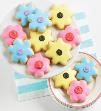 Mini Springtime Crunchy Sugar Cookies