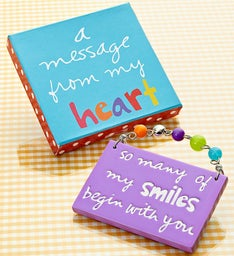 """A Message from the Heart"" Artisan Plaque"