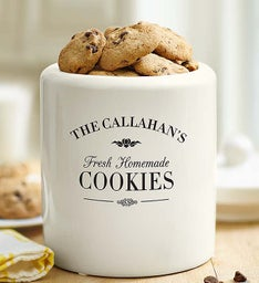 Personalized Cookie Jar with Cheryl's Cookies