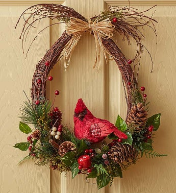 Woodland Cardinal Wreath - 18