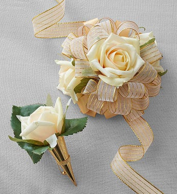 Keepsake Cream Corsage and Boutonniere