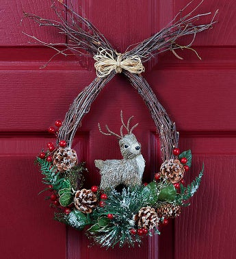 Reindeer Holiday Wreath - 18