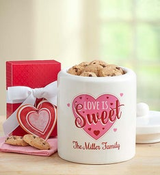 Personalized Love is Sweet Cookie Jar