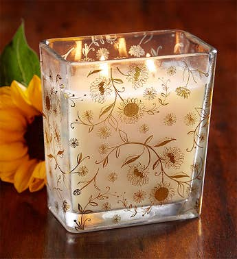 Fields of Flowers Sunflower Candle