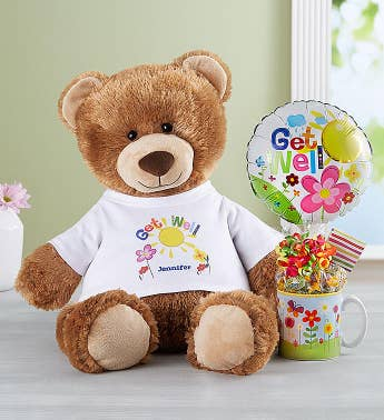 Personalized Get Well Tommy Teddy