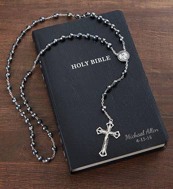 Personalized Bible and Rosary Beads
