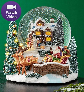 Lighted Wonderous Winter Snowglobe