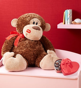 Monkey Love Plush with Chocolate
