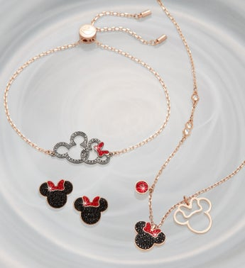Swarovski Mickey  Minnie Jewelry Set