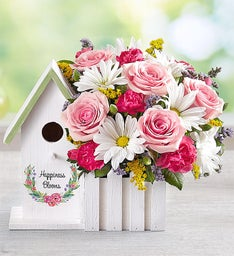 Happiness Blooms™ Birdhouse - Pink