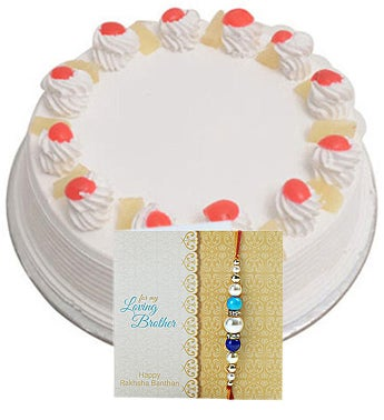 Rakhi  1kg Eggless Pineapple Cake