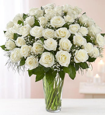 Ultimate Elegance Long Stem White Roses