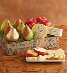 Classic Pears, Apples, and Cheese Gift
