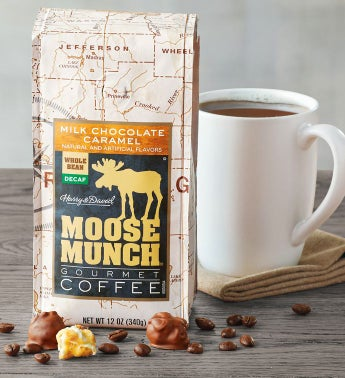 Decaf Milk Chocolate Caramel Moose Munch174 Coffee