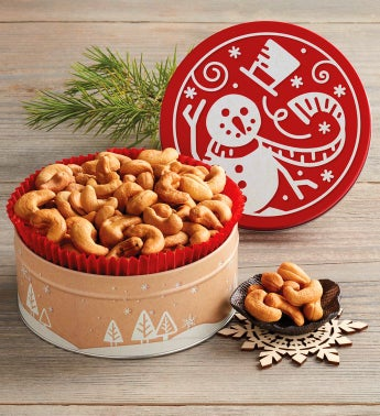 Holiday Cashew Gift Tin