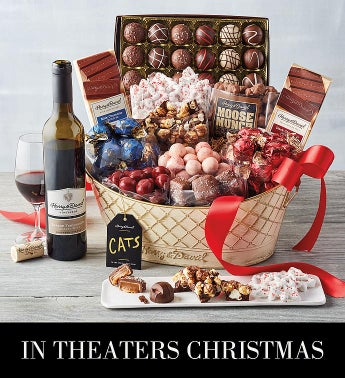 iCATSi Chocolate Basket with Wine