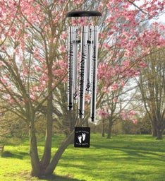 Foot Prints Engraved Wind Chime