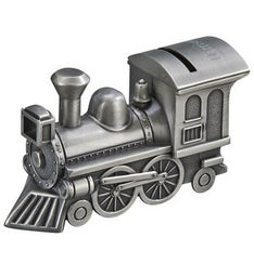 Personalized Metal Train Bank