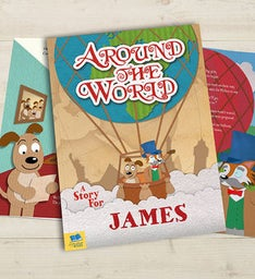 Personalized Around the World Hardback Book