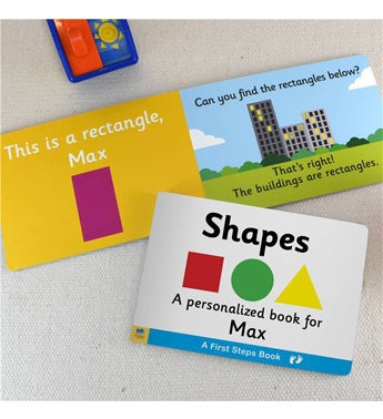 Personalized Learning Shapes Board Book