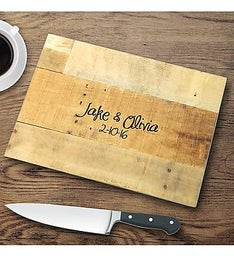 Personalized Multi-Wood Glass Cutting Board