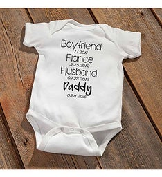 Daddy To Be Baby Announcement Bodysuit