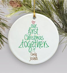 Personalized Ceramic First Christmas Ornament