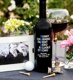Personalized Funny Charming Fathers Day Wine