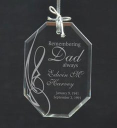 Personalized Remember Dad Ornament