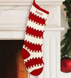 Personalized Red Striped Stocking