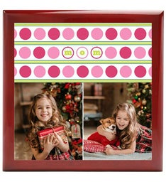 Personalized Dots Mom Keepsake Box