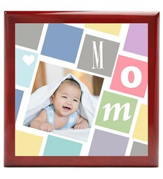 Personalized Cubist Mom Keepsake Box