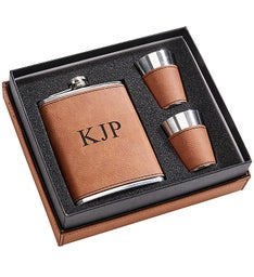 Personalized Leatherette Box Gift Set