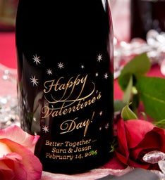 Happy Valentines Day Personalized Wine Bottle