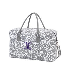 Personalized Animal Print Travel Bag