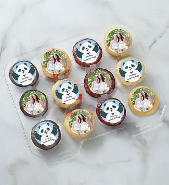 12-24 Mini Personalized Sweet Panda Air Hugs Cupcakes