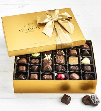 Godiva Gold Ballotin Chocolates Box - 70 piece