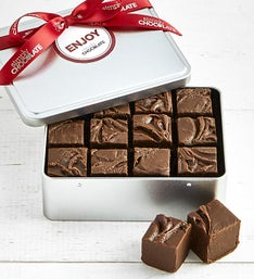 Simply Chocolate Milk Chocolate Fudge Tin