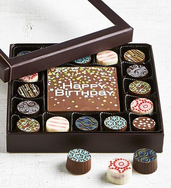 Simply Chocolate Birthday Bar  Truffles 17pc