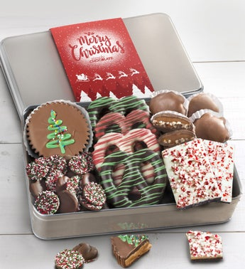 Simply Chocolate Holiday Cheer Confections Tin