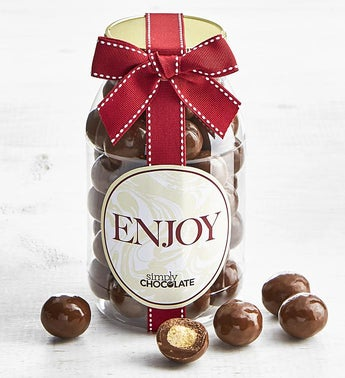Simply Chocolate Enjoy Malted Milk Balls Jar