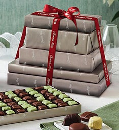 Fannie May Platinum Wrap Chocolates Tower