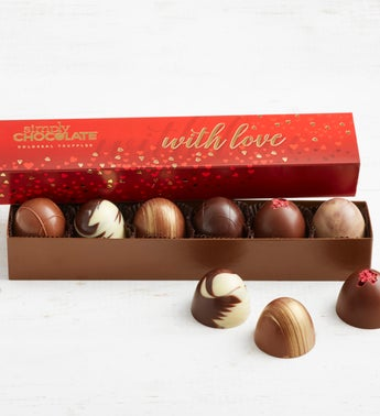 Simply Chocolate With Love Colossal Truffles 6pc