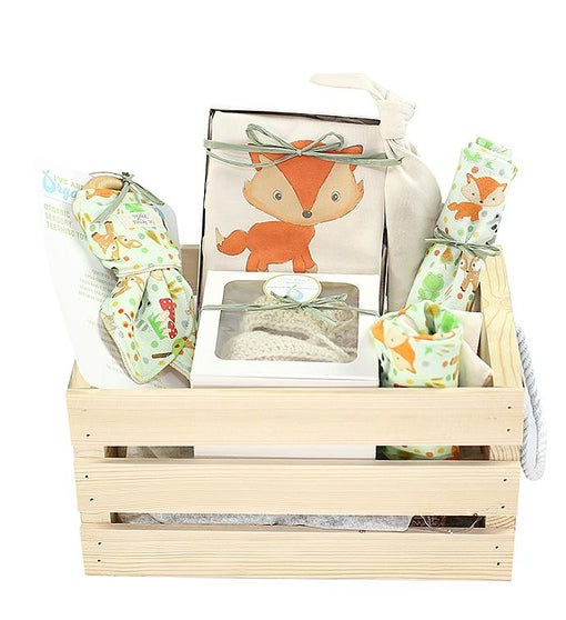 I've Arrived Organics Baby Gift Crate