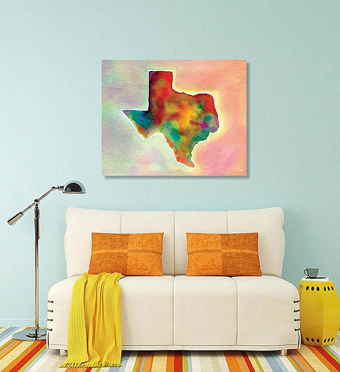 Watercolor Texas