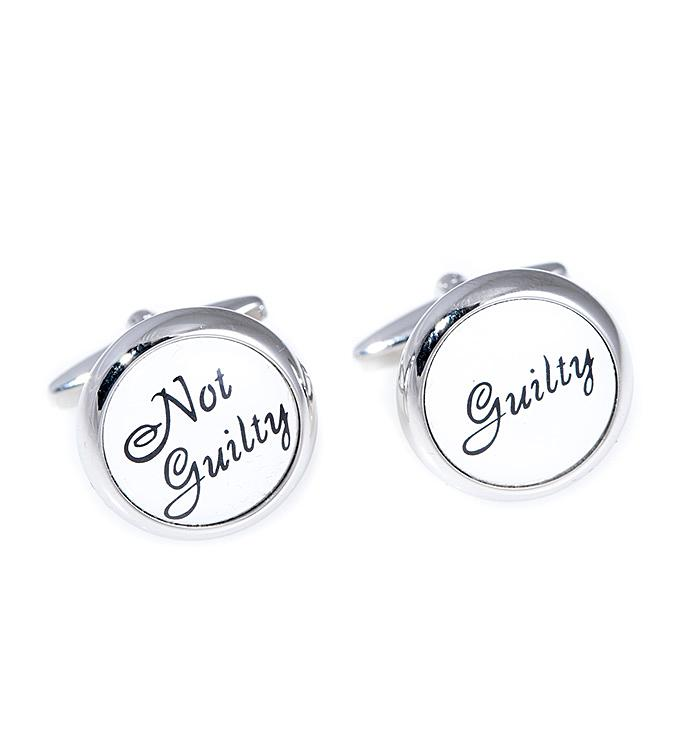 Guilty  Not Guilty Cufflinks