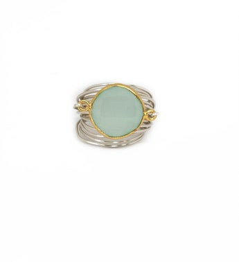 The Torrey Ring - Blue Chalcedony
