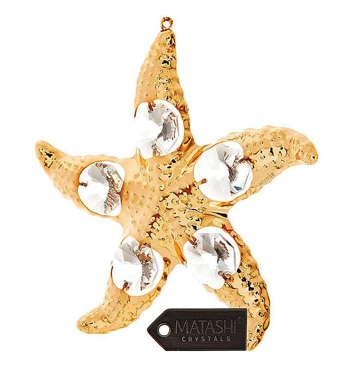Gold Plated Starfish Ornament