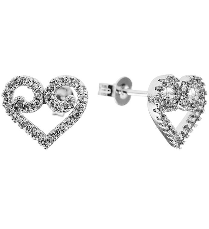 Swirling Heart Gold Plated Earrings